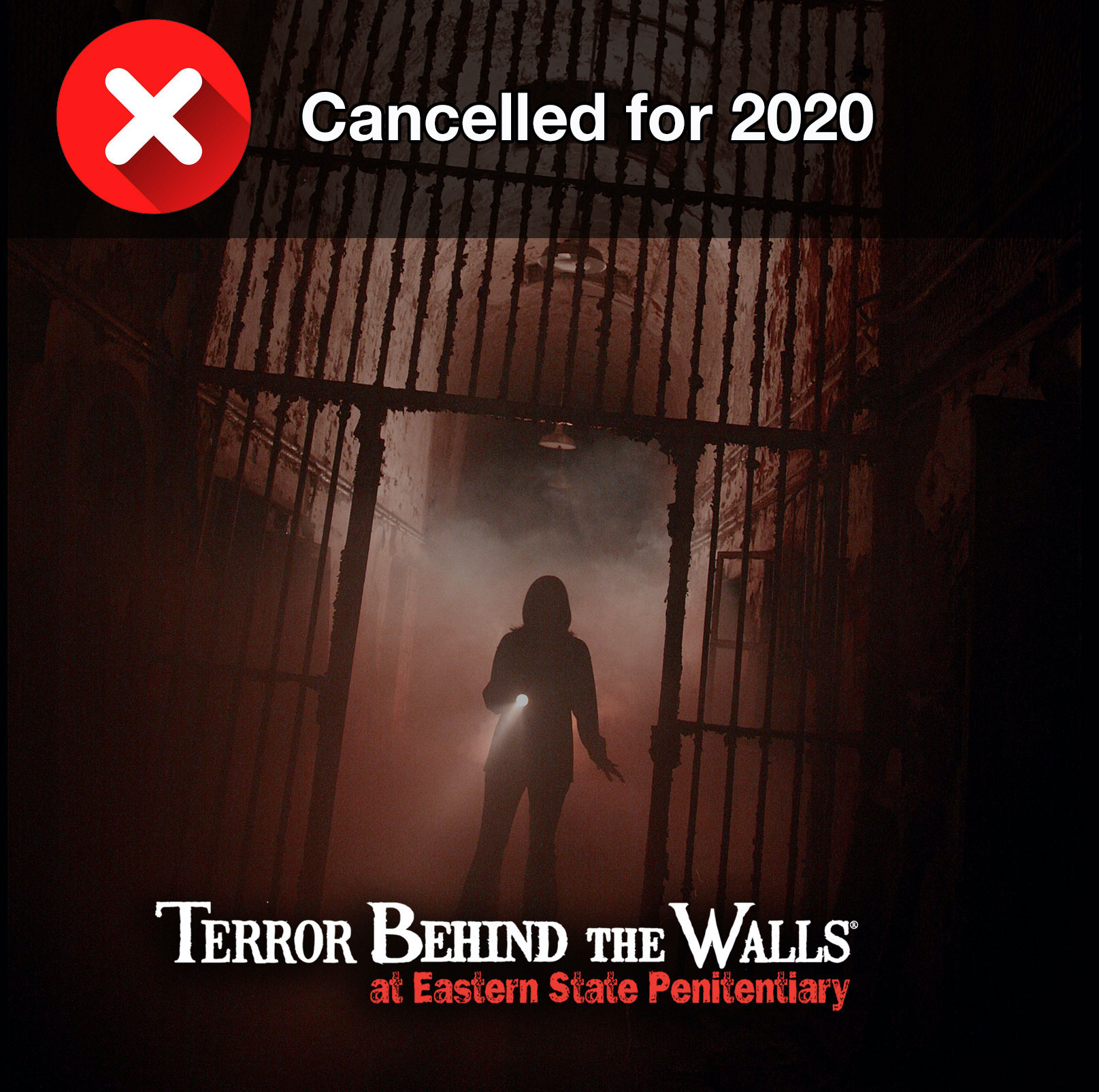 Terror Behind the Walls is Closed for 2020
