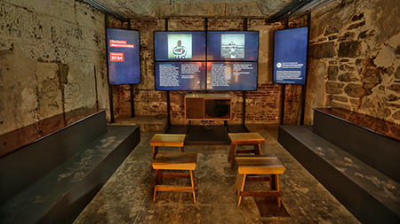 """The road to mass incarceration"" video installation"